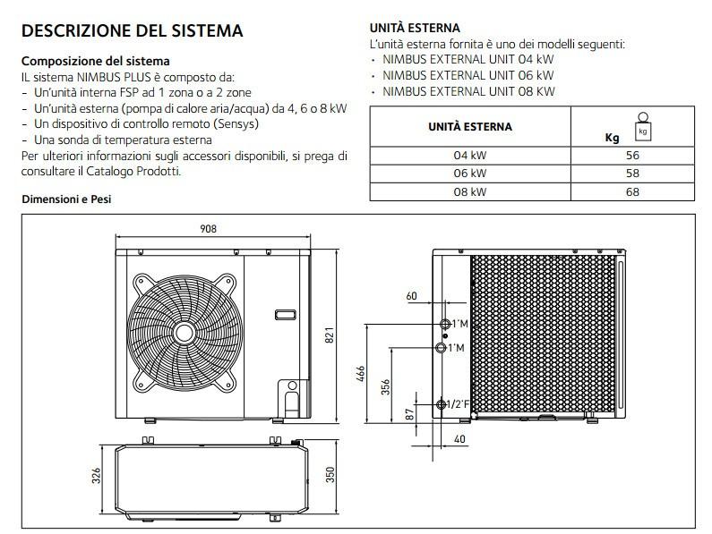 Ariston pompa di calore nimbus 4 6 8 kw 230v tmax for Caldaia ariston manuale