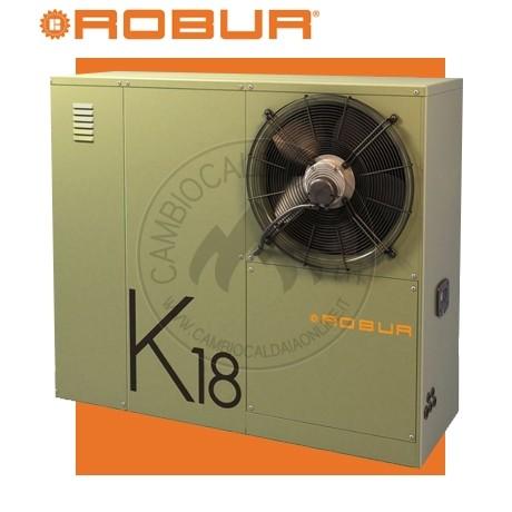 Cambiocaldaiaonline.it ROBUR SpA ROBUR K18 Hybridgas 37/2 Sistema Ibrido caldaia a cond. s/riscald.to + pdc ad assorbimento A++ (37.9kW Risc.to + Tmax 80°C + Pompa HEff. + da esterno) Cod: FQA200011A-355