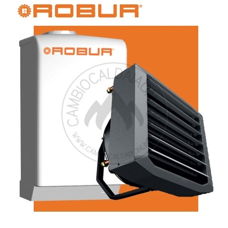 Cambiocaldaiaonline.it ROBUR SpA NOLEGGIO ROBUR Caldaria° 35 TECH SMART (Caldaia 33kW + Aerotermo 35kW da 3.000 mc/h + h 7mt * 170mq * 1020mc) Cod: F1292Q110-330