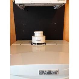 Cambiocaldaiaonline.it Vaillant adattatore B23 (presa aria in ambiente per condensazione) Cod: 0020147469-20