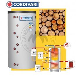 Cambiocaldaiaonline.it CORDIVARI Kit bollitore COMBI 3 + pannelli solari da 500 a 2000 lt capacità + Legna Cod: 341031661290-20
