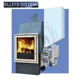 Cambiocaldaiaonline.it ELLEGI Termocamino a Legna e pellet ENVIRON L/LP (solo risc) 28 kW Cod: 0.915.011-20