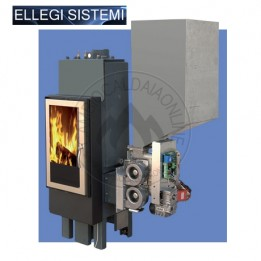 Cambiocaldaiaonline.it ELLEGI Termocamino a Legna e pellet ENVIRON S/LP (solo risc) 18 kW Cod: 0.915.021-20
