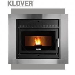 Cambiocaldaiaonline.it Klover Inserto Idro a Pellet FIRE PLACE 18 15,8 kW Cod: PFP18.R15-20