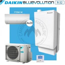 Cambiocaldaiaonline.it DAIKIN Hybrid + Multi 5MXM90N + HPU Hybrid 8KW + 4FTXM20 (U.est. 2.75kW elett + U.int 10.02kW term + 33kW risc+acs) Cod: SB.HBH08/EVLQ/33A2 + 5MXM90N + 4-20