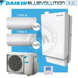 Cambiocaldaiaonline.it DAIKIN Hybrid + Multi 4MXM80N + HPU Hybrid 5KW + 1FTXM25 + 2FTXM35 (U.est. 2.65kW elett + U.int 5.12kW term + 33kW risc+acs) Cod: SB.HBH08/EVLQ/33A2 + 4MXM80N-20