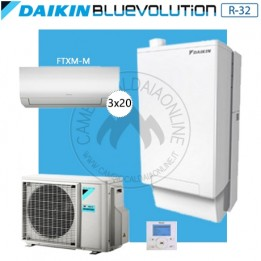 Cambiocaldaiaonline.it DAIKIN Hybrid + Multi 4MXM68N + HPU Hybrid 5KW + 3FTXM20 (U.est. 2.07kW elett + U.int 5.12kW term + 33kW risc+acs) Cod: SB.I-CHYHBH05/33A2 + 4MXM68N-20