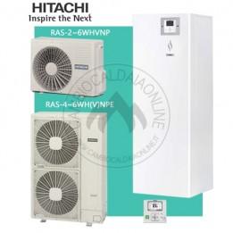 Cambiocaldaiaonline.it HITACHI Sistema Split YUTAKI S COMBI RWD da 2.0 a 6.0 NWE 200 S (u.est da 1.43 a 5.40 kW elett + u.int da 4.3 a 16.0 kW term + acs 200lt + Tmax 55°) SOLO CALDO Cod: RWD-20