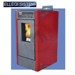 Cambiocaldaiaonline.it ELLEGI Stufa a pellet VIENNA 15 (risc + aria ventilata) 15 kW Cod: 0.915.007-20