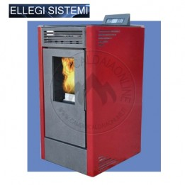 Cambiocaldaiaonline.it ELLEGI Stufa a pellet VIENNA 12 (risc + aria ventilata) 12 kW Cod: 0.915.006-20