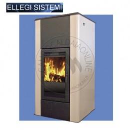 Cambiocaldaiaonline.it ELLEGI Termostufa a Legna KARIN (solo risc) 18 kW Cod: 0.915.012-20