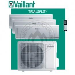 Cambiocaldaiaonline.it Vaillant climaVAIR exclusive VAM 5-072W307 trial VAI 5-020WNI + 2 VAI 5-025WNI (kW raff 7.10 + kW risc 8.50) R32 Classe A++ Cod: 670+691+692-20