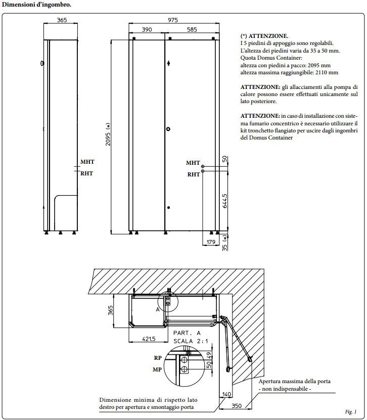 immergas armadio tecnico domus container  da interno