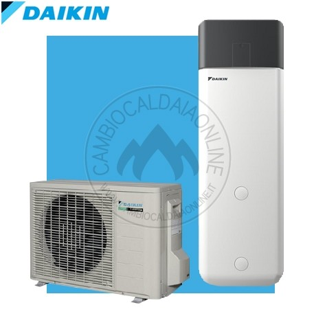 DAIKIN ECH2O 300/500 Boiler Pompa Di Calore Split BIV (da 300 A 500 Lt +  2.5kW Elettrici + 2kW Res Elettrica + SolareDB/caldaia)