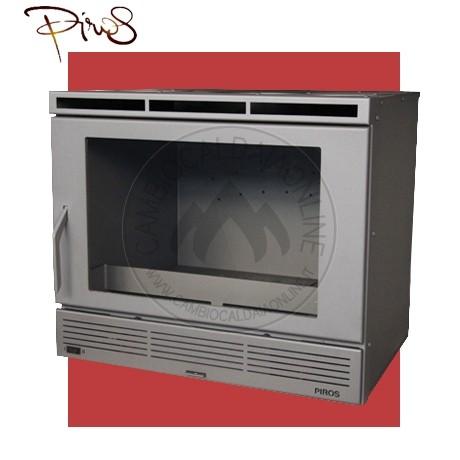 Cambiocaldaiaonline.it PIROS by MA-FER PIROS Inserto a Legna ECOBOX SLIM PICCOLO ventilazione forzata c/regolatore (9.5kW risc. + 210 mc riscaldabile + Fumi Ø 200 mm) Misure L640 x P541 x HVetro 374 mm Cod: CA-26-20-20-321
