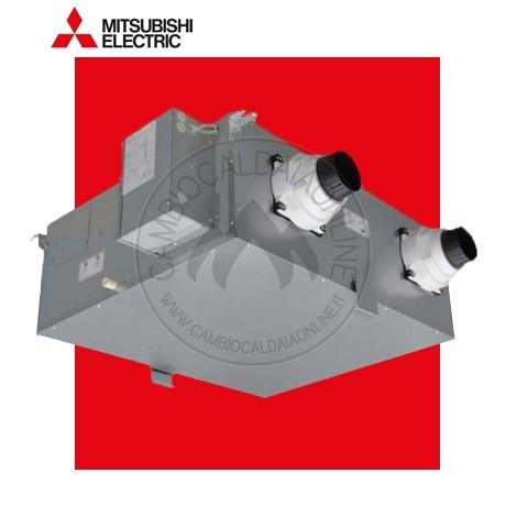 Cambiocaldaiaonline.it MITSUBISHI ELECTRIC MITSUBISHI Recuperatore di calore VMC centralizzata VL-220CZGV-E (220 mc/h portata aria + 86% efficienza + 14 db(A) + Lossnay) Cod: VL-220CZGV-E-345