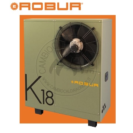 Cambiocaldaiaonline.it ROBUR SpA ROBUR K18 Simplygas pdc ad assorbimento a gas A++ (Risc.to 18.9 kW + Temp max 65°C + pompa modulante HEff. + da esterno) Cod: FQMH00211A-350