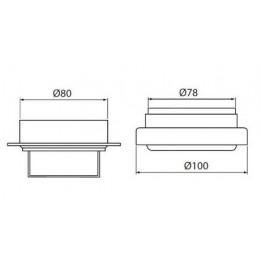 Cambiocaldaiaonline.it Beretta Kit Sistema Sdoppiatore ⌀ 80 ALU Cod: 1100549-20