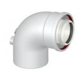 Cambiocaldaiaonline.it VAILLANT Curva 90° per Scarico Coassiale Cod: 0020201157-20