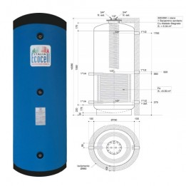 Cambiocaldaiaonline.it AURORA 3M ECOCELL PUFFER SPECIALI (800 lt + acs 4.45mq) Cod: PFS 800 R SPECIAL-20
