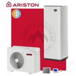 Cambiocaldaiaonline.it ARISTON sistema split NIMBUS COMPACT S NET (u.est 2.03-3.07 kW elett + u.int 5.70 kW term + acs 180lt + Tmax 60°) CALDO and FREDDO + APP Cod: 330092-20