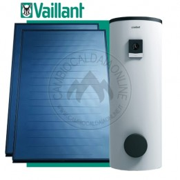 Cambiocaldaiaonline.it Vaillant Kit auroTHERM plus ACS 300 lt bollitore bivalente (pannelli 2 x VFK 155 V + accessori) staffe e tubazioni solari escluse Cod: 0020223464-20