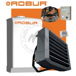 Cambiocaldaiaonline.it NOLEGGIO ROBUR Caldaria° 35 TECH PLUS ACS (Caldaia 33kW + Aerotermo 35kW da 3.000 mc/h + Miscelatore 10.000 mc/h + h 7mt * 170mq * 1020mc) Cod: F1292R110+E 3M-20