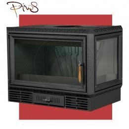 Cambiocaldaiaonline.it PIROS Inserto a Legna CALORBOX GRANDE ANGOLO SX ventilazione forzata (11.5kW risc. + 280 mc riscaldabile + Fumi Ø 200 mm) Misure L740 x P490 x HVetro 467 mm Cod: CA-13-50-20-20