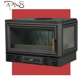 Cambiocaldaiaonline.it PIROS Inserto a Legna CALORBOX GRANDE BASSO ANGOLO SX ventilazione forzata (11.5kW risc. + 280 mc riscaldabile + interno ghisa) Cod: CA-17-50-20-20