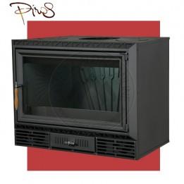 Cambiocaldaiaonline.it PIROS Inserto a Legna CALORBOX GRANDE CENTRALE ventilazione forzata (11.5kW risc. + 280 mc riscaldabile + Fumi Ø 200 mm) Misure L740 x P490 x HVetro 467 mm Cod: CA-11-50-201-20