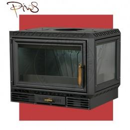 Cambiocaldaiaonline.it PIROS Inserto a Legna CALORBOX PICCOLO ANGOLO BASSO SX ventilazione forzata (9.5kW risc. + 210 mc riscaldabile + interno ghisa) Cod: CA-09-50-20-20
