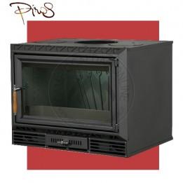 Cambiocaldaiaonline.it PIROS Inserto a Legna CALORBOX PICCOLO BASSO ventilazione forzata (9.5kW risc. + 210 mc riscaldabile + Fumi Ø 200 mm) Misure L640 x P490 x HVetro 417 mm Cod: CA-07-50-20-20