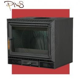 Cambiocaldaiaonline.it PIROS Inserto a Legna CALORBOX PICCOLO CENTRALE ventilazione forzata (9.5kW risc. + 210 mc riscaldabile + Fumi Ø 200 mm) Misure L640 x P490 x HVetro 467 mm Cod: CA-02-50-20-20