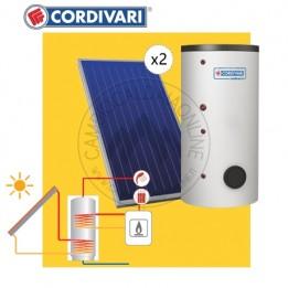 Cambiocaldaiaonline.it Cordivari SISTEMA TERMICO SOLARE B2 da 200 lt (BOLLY 2ST da 200 lt + 2 collettori x 2.5 mq + tetto falda + 4-5 pp) Cod: 3410316618534-20