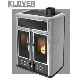 Cambiocaldaiaonline.it Klover termostufa a legna / pellet DUAL 27.4 kW Cod: DH-20