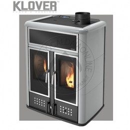 Cambiocaldaiaonline.it Klover termostufa a pellet-legna DUAL (pellet 16,1kW-wood 11,3kW-pellet+wood 27.4kW) Cod: DH-20