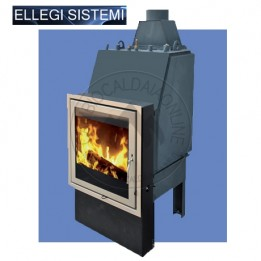 Cambiocaldaiaonline.it ELLEGI Termocamino a Legna ENVIRON L (solo risc) 20 kW Cod: 0.915.001.20-20