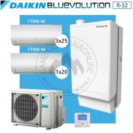 Cambiocaldaiaonline.it DAIKIN Hybrid + Multi 5MXM90N + HPU Hybrid 5KW + 1FTXM20 + 3FTXM25 (U.est. 2.65kW elett + U.int 5.12kW term + 33kW risc+acs) Cod: SB.HBH05/EVLQ/33A2 + 5MXM90N-20