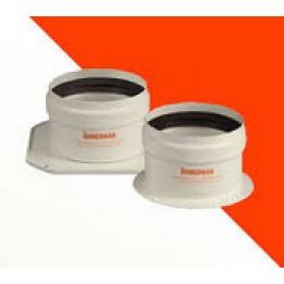 "Cambiocaldaiaonline.it Immergas kit tronchetti flangiati diametro 80/80 ""serie blu"" (std) Cod: 3.011570-20"