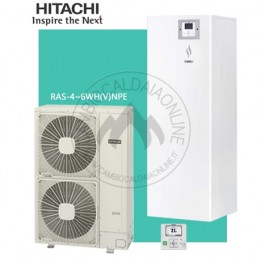 Cambiocaldaiaonline.it HITACHI Sistema Split YUTAKI S80 COMBI RWH da 4.0 a 6.0 VNFWE (u.est da 3.79 a 5.86 kW elett + u.int da 11 a 16 kW term + Tmax 65°/ 7°) SOLO CALDO Cod: RWH-20