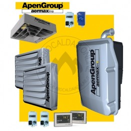 Cambiocaldaiaonline.it NOLEGGIO APEN GROUP Kit AQUAKOND DUAL AKY034 + AB018 + Q350 (Caldaia 34.8kW + 2 Aerotermi 16kW + Destrat. 7.500mc/h + H 7mt * 165mq * 1160mc) Cod: AKY034IT+(2)AB018IT-0020+Q350-20