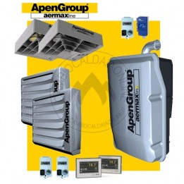 Cambiocaldaiaonline.it NOLEGGIO APEN GROUP Kit AQUAKOND DUAL AKY050 + AB032 + Q350 (Caldaia 49kW + 2 Aerotermi 32kW + 2 Destrat. 7.500mc/h + H 7mt * 233mq * 1633mc) Cod: AKY050IT + (2)AB032IT+ (2)Q350-20