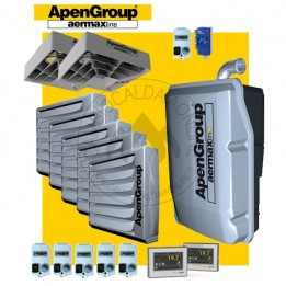 Cambiocaldaiaonline.it NOLEGGIO APEN GROUP Kit AQUAKOND PENTA AKY100 + AB018 (Caldaia 96.2 kW + 5 Aerotermi da 16kW da 2390 mc/h + H 7mt * 458 mq * 3206 mc) Cod: AKY100IT+ (5) AB018IT-0020-20