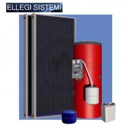 Cambiocaldaiaonline.it ELLEGI Kit solare circolazione forzata 300 lt + 2 pannello piano Cod: PCSS300/4.8-20