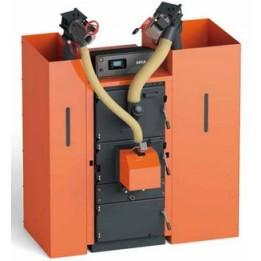 Cambiocaldaiaonline.it STEPCLIMA Caldaia a combustibili granulari poveri FUEGO POLIMATIC INOX solo risc./ACS (da 29 kW a 150 kW) Cod: POLIFU-20