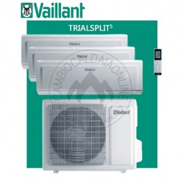 Cambiocaldaiaonline.it Vaillant climaVAIR exclusive VAM 5-072W307 trial VAI 5-020WNI + 2 VAI 5-025WNI (kW raff 7.10 + kW risc 8.50) R32 Classe A++ Cod: 670+691+692-20