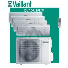 Cambiocaldaiaonline.it Vaillant climaVAIR plus VAM 8-080 W408 Quadri + 4 VAI 8-020 WNI (kW raff 8.00 + kW risc 9.50) R32 Classe A++ Cod: 660+(4) 676-20