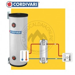Cambiocaldaiaonline.it Cordivari/Storm Volano Termico PDC Pensile 25 / 50 lt (Inerziale/separatore idraulico H= 790 / 1008 mm D= 290 / 343 mm) Cod: 307016092000 / ST1577-20